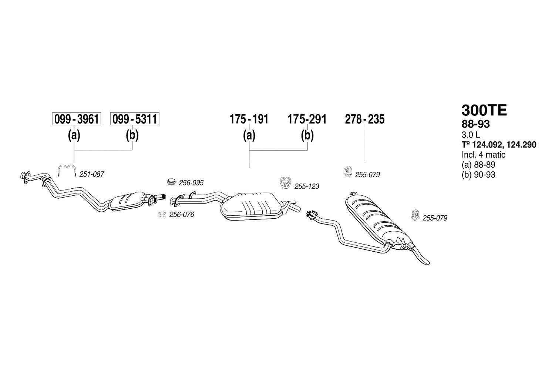 Exhaust Muffler Assembly-Direct-Fit Bosal 175-191