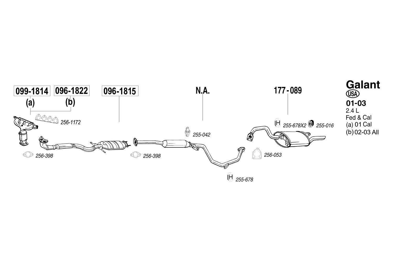 Non-CARB Compliant Bosal 096-1822 Catalytic Converter