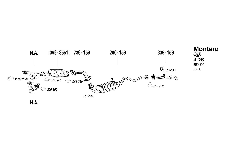 Bosal 256 790 Exhaust Pipe Flange Gasket 1994 Mitsubishi Montero 30l Engine Circuit Schematic Diagram
