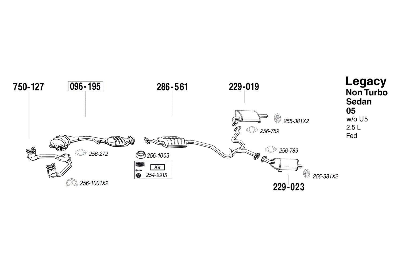 Bosal 229-023 Exhaust Silencer