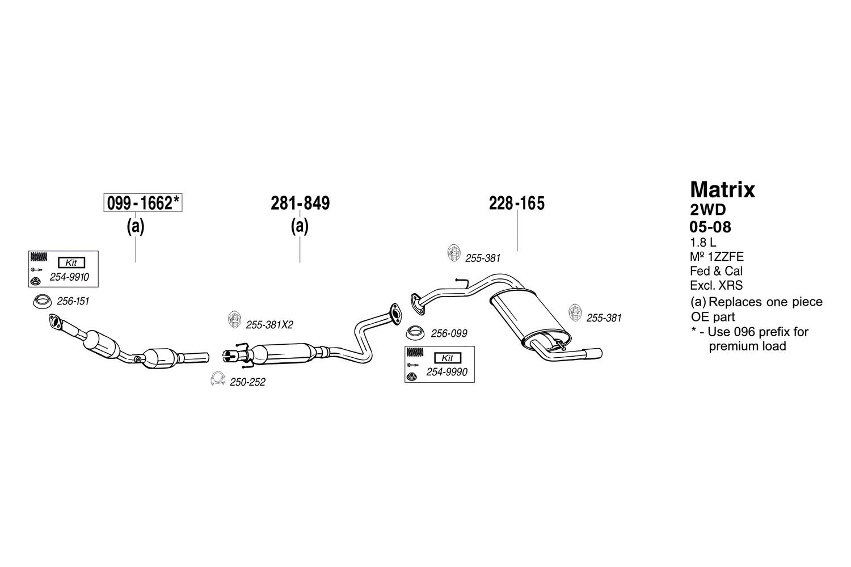 Bosal 281-849 Exhaust Silencer