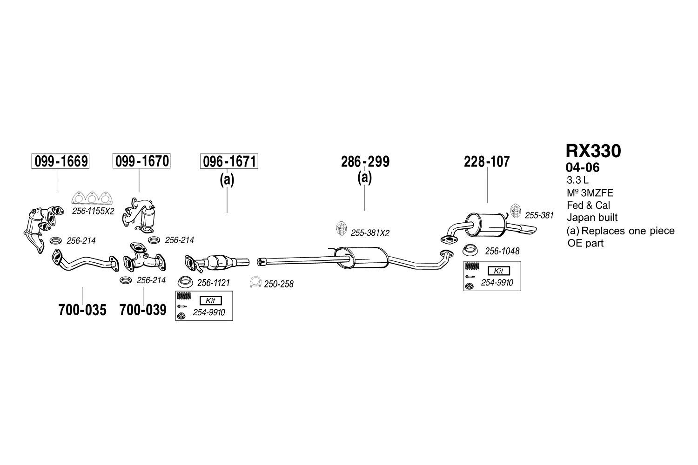 Bosal 254-950 Assembly Parts