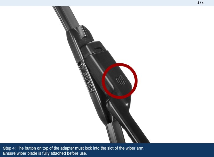 bosch evolution wiper blades installation instructions