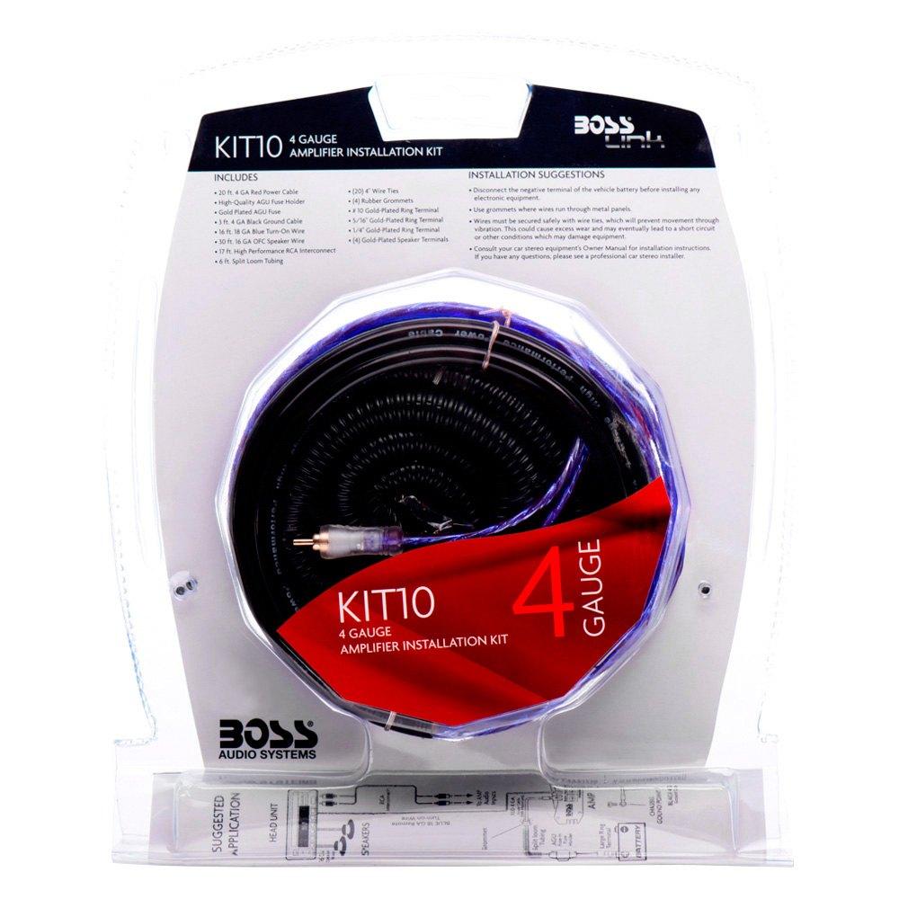 boss® - complete amplifier wiring kit boss audio wiring harness #4