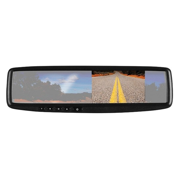 boss rear view mirror with 4 3 tft monitor and back up color camera ebay. Black Bedroom Furniture Sets. Home Design Ideas