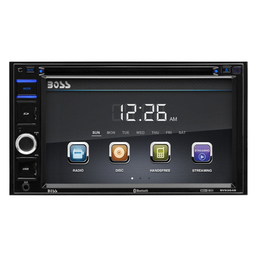 Boss Bv9538b Double Din Bluetooth Dvd Car Stereo Receiver: Double DIN DVD/CD/AM/FM/MP3/WMA