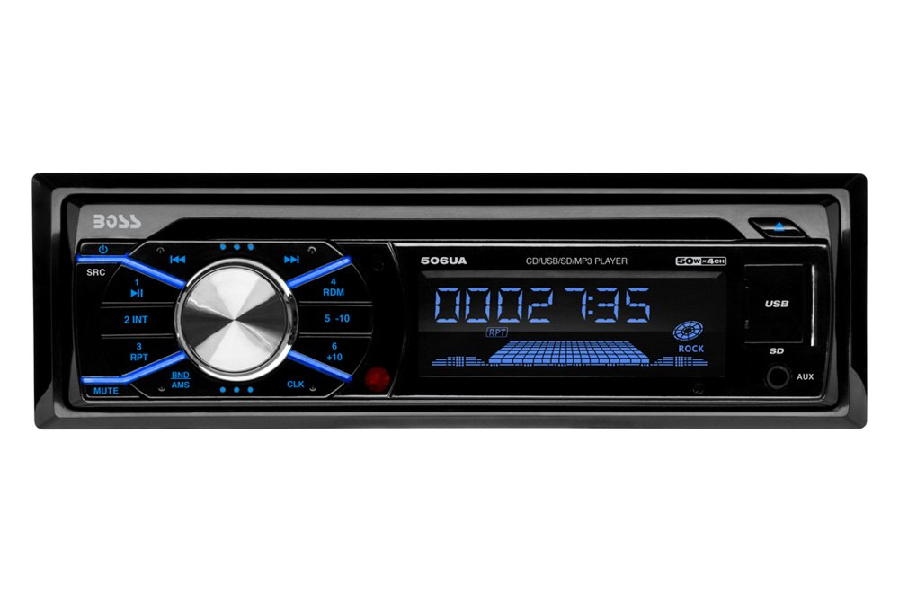 506ua front boss audio® 506ua single din cd am fm mp3 wma receiver with remote
