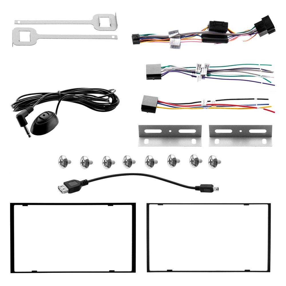 Boss Audio Bv9362bi Wiring Harness Solutions Bv9384nv Diagram Double Din Dvd Cd Am Fm Receiver With 6 2