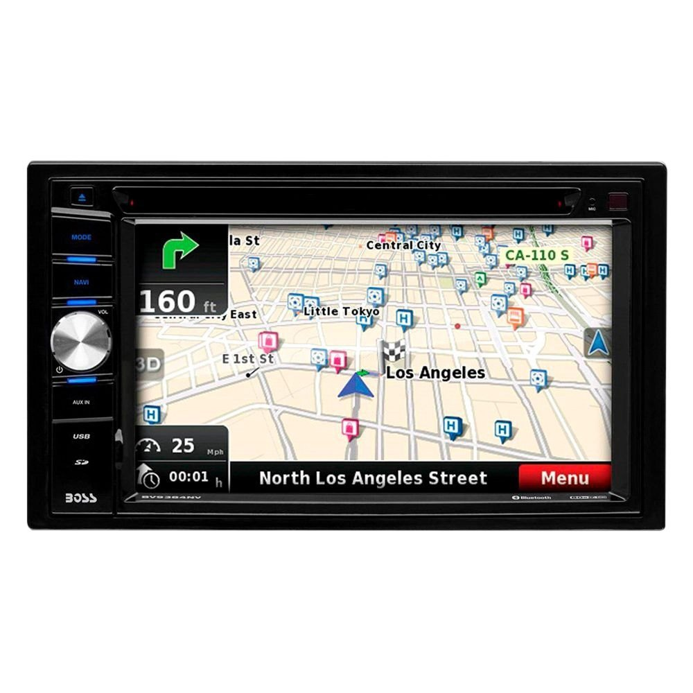BOSS® BV9384NV - Double DIN DVD/CD/AM/FM/MP3 Receiver with 6 2