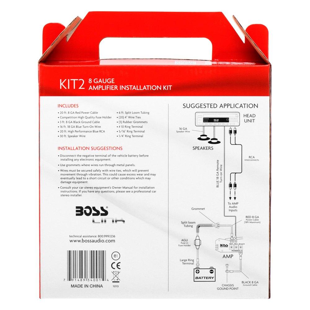 boss kit2 8 gauge amplifier wiring kit | ebay boss audio wiring kit for car audio wiring kit #11