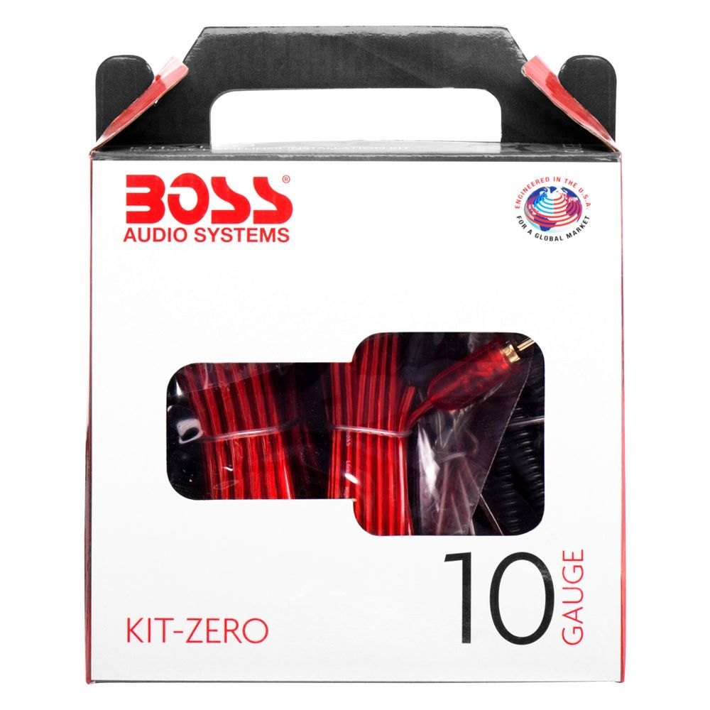 boss audio wiring kit for boss audio® kitzero - 10 gauge amplifier wiring kit