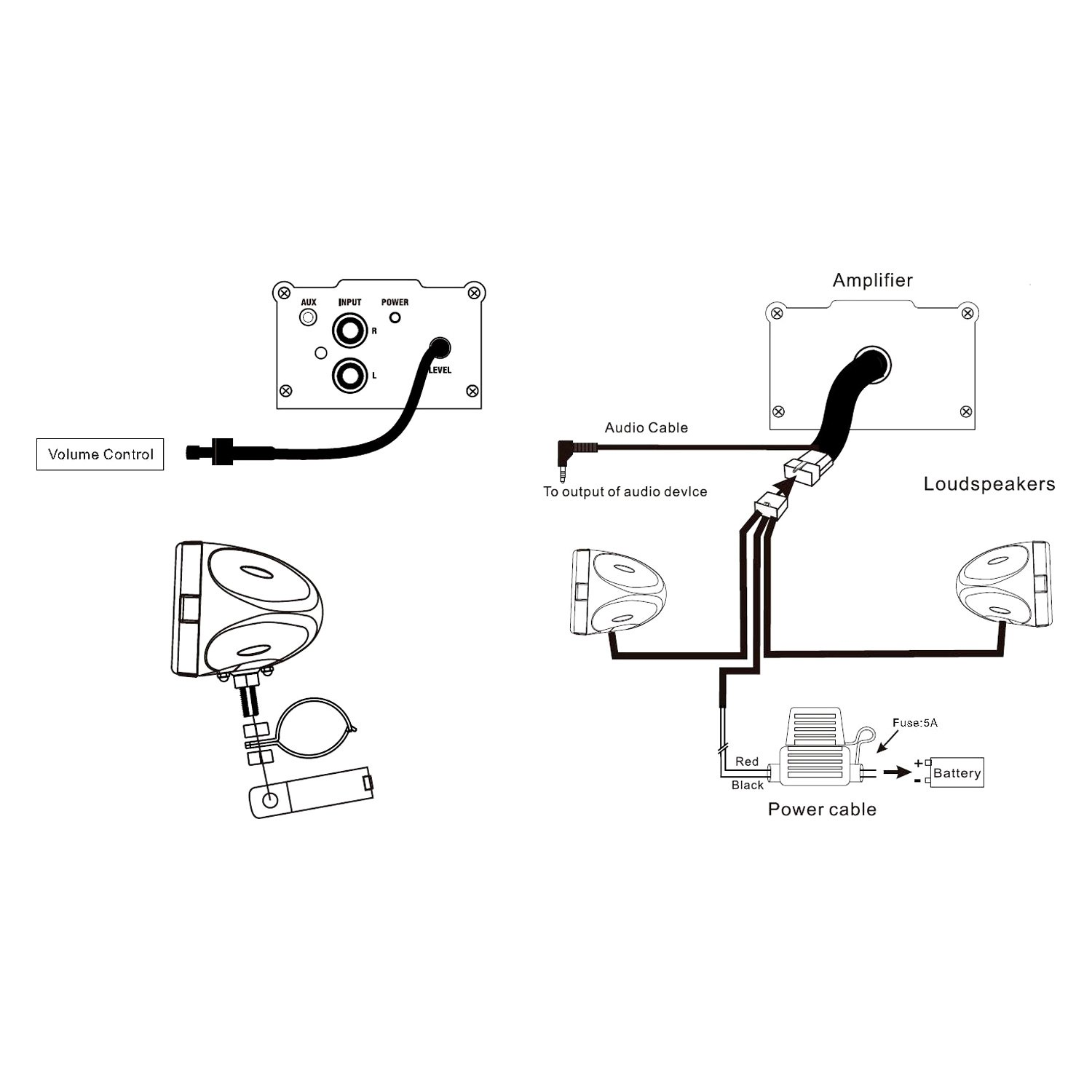 boss audio bv9364b wiring harness  diagram  auto wiring