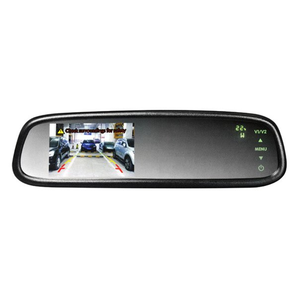 boyo vtm43tc oe style rear view mirror with 4 3 lcd. Black Bedroom Furniture Sets. Home Design Ideas