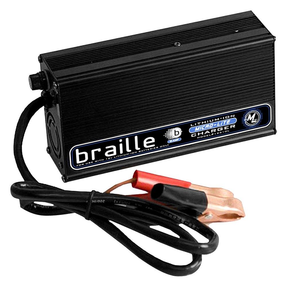 braille battery 12310l 10 amp 12 volt lithium battery charger. Black Bedroom Furniture Sets. Home Design Ideas