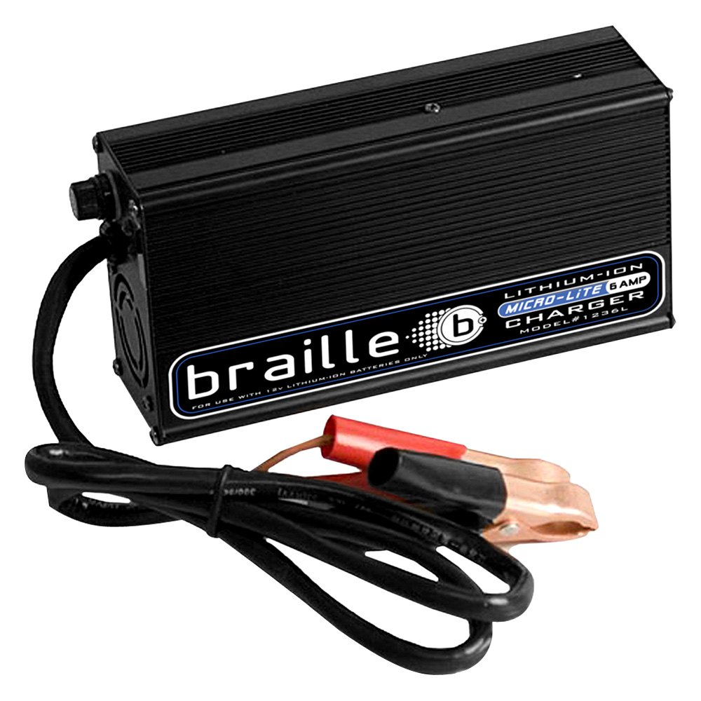 braille battery 1236l 6 amp 12 volt lithium battery charger. Black Bedroom Furniture Sets. Home Design Ideas