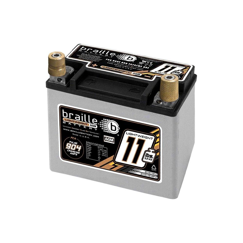 braille battery b14115 advanced lightweight 12v agm battery. Black Bedroom Furniture Sets. Home Design Ideas
