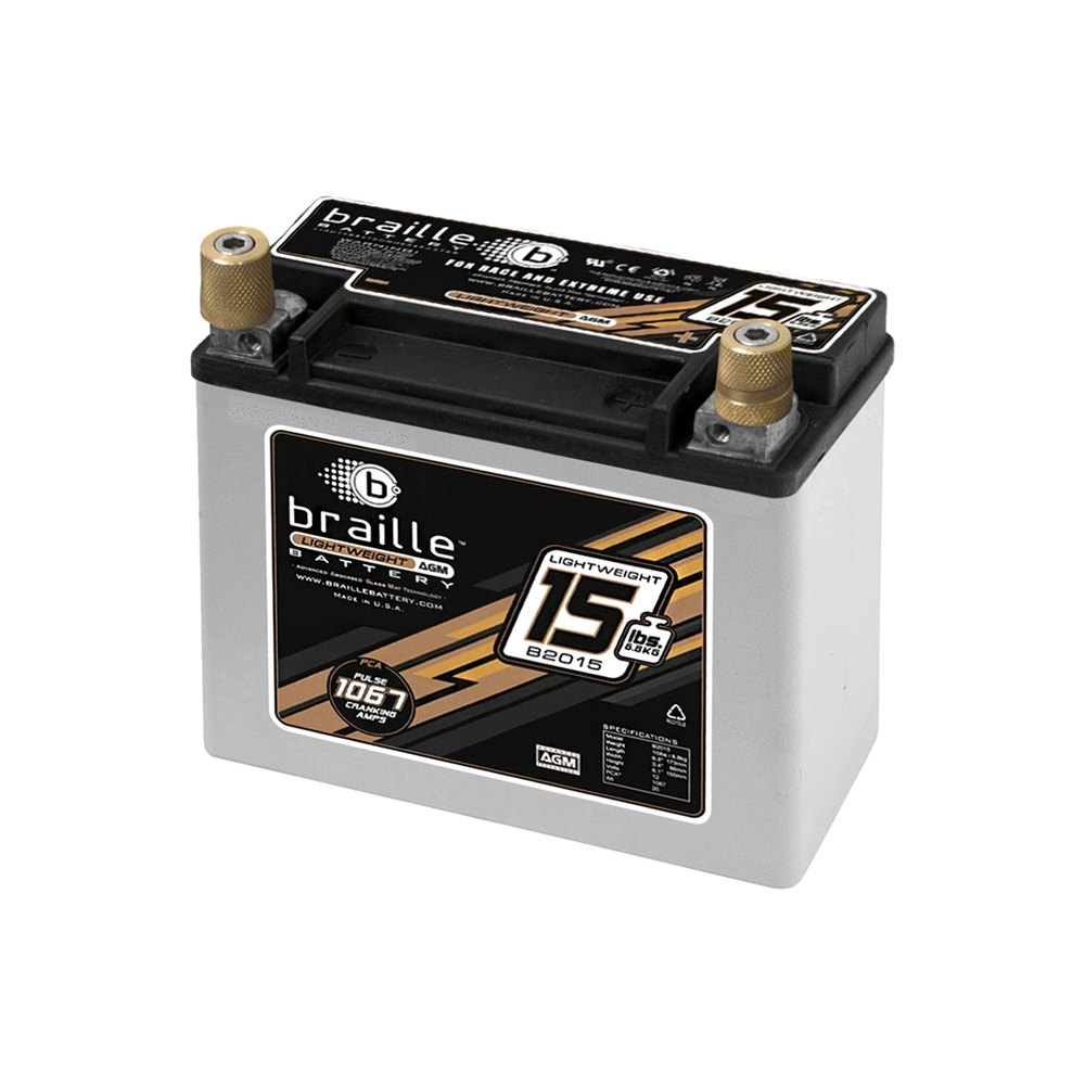 braille battery b2015 advanced lightweight 12v agm. Black Bedroom Furniture Sets. Home Design Ideas