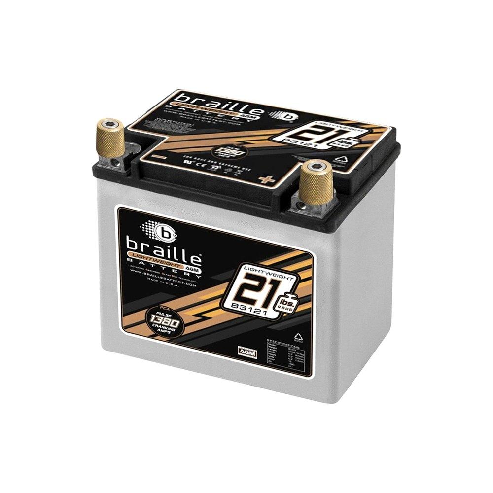 braille battery b3121 advanced lightweight 12v agm battery. Black Bedroom Furniture Sets. Home Design Ideas