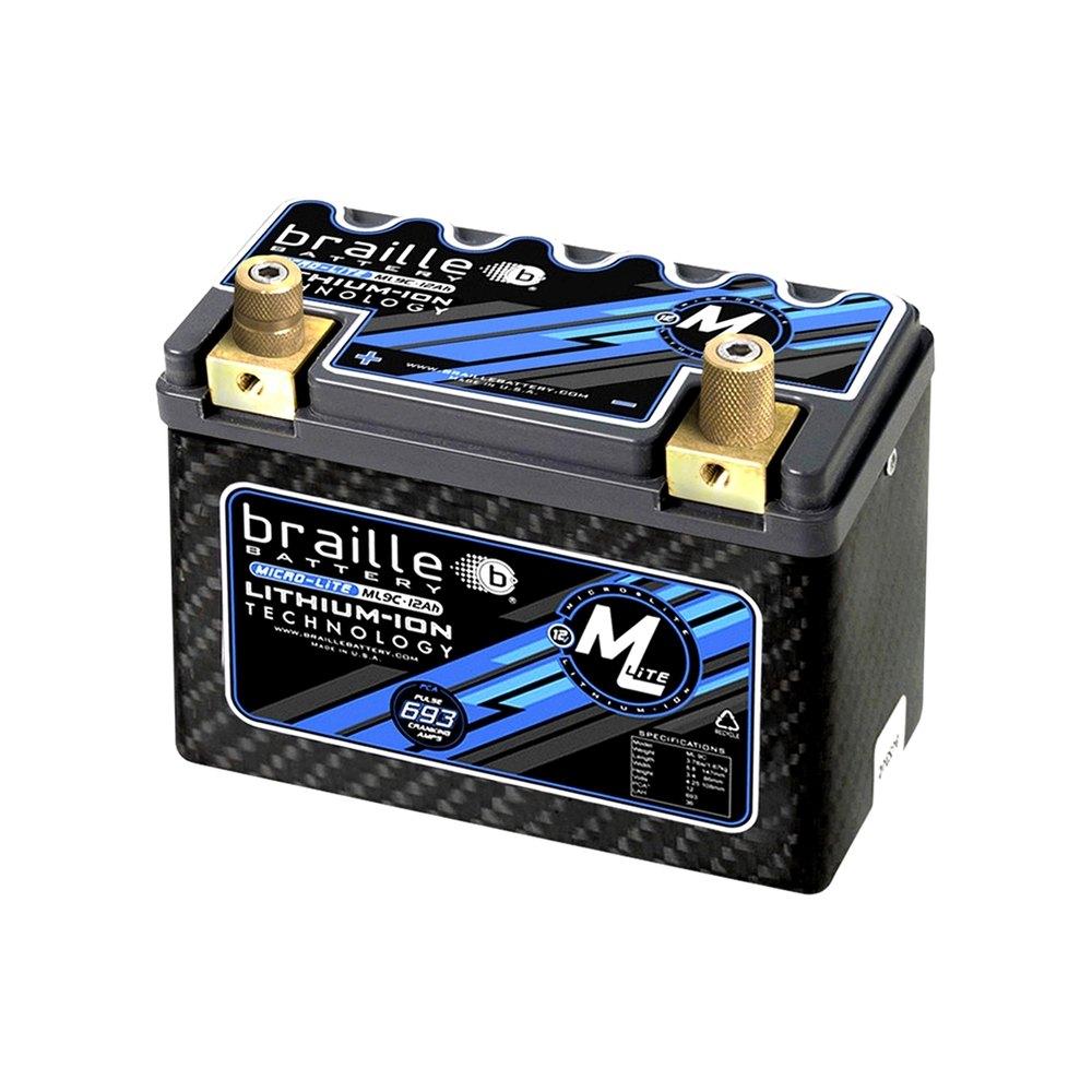 Braille Battery 174 Ml9c Carbon Lithium Micro Lite 12v Battery