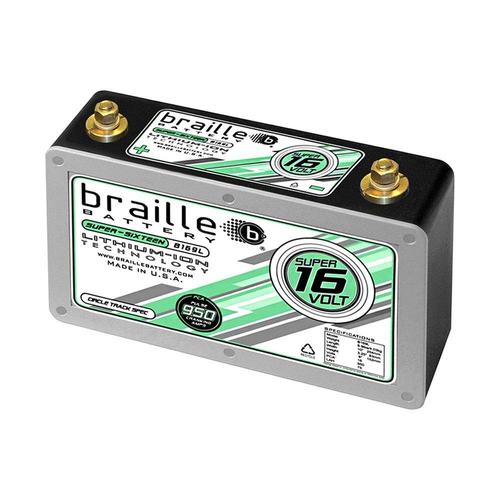 braille battery b169l 950 amp super 16 volt lithium battery. Black Bedroom Furniture Sets. Home Design Ideas