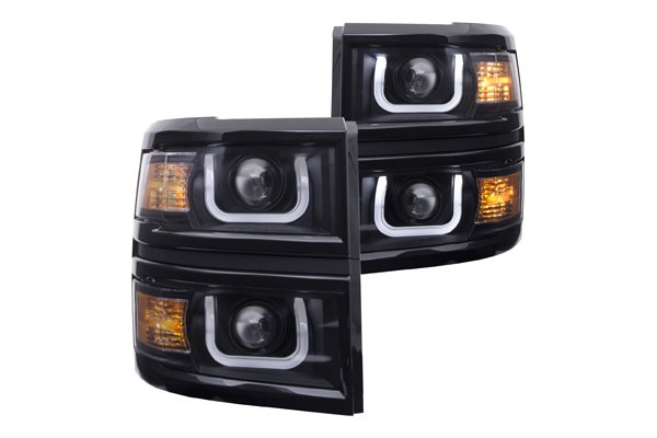 Stylish U Bar Drl Headlights Led Taillights And 3rd Brake