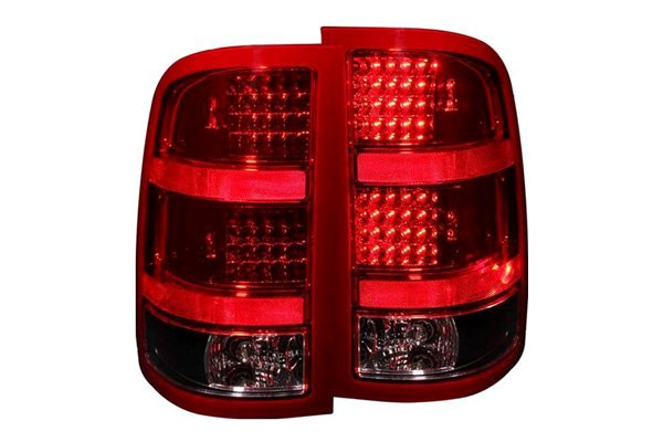 anzo 311090 gmc sierra 2007 black led tail lights. Black Bedroom Furniture Sets. Home Design Ideas