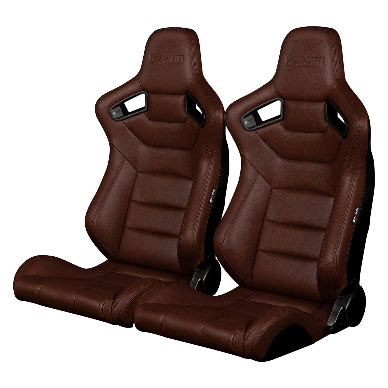 braum brr1 cpbs elite series sport seats brown leatherette. Black Bedroom Furniture Sets. Home Design Ideas