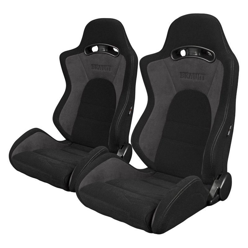 ... S8 Series V2 Sport Seats Black and Gray Fabric with Gray ...  sc 1 st  CARiD.com & Braum® - S8 Series Sport Seats islam-shia.org