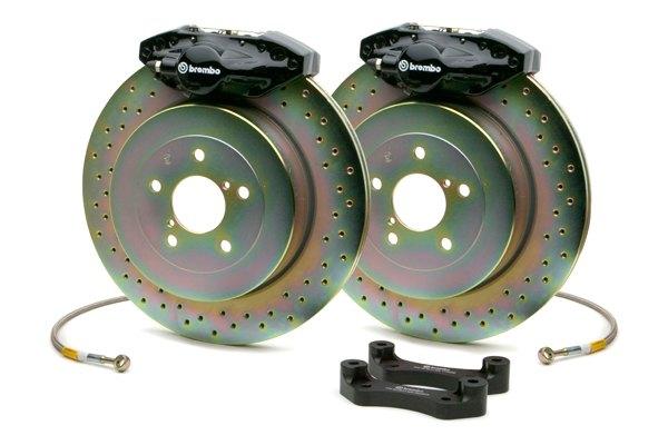 brembo gt series cross drilled 1 piece rotor rear brake kit. Black Bedroom Furniture Sets. Home Design Ideas