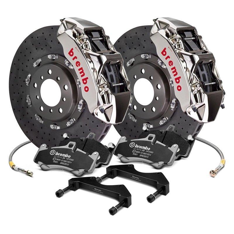 Brembo Brakes Price >> Brembo Gt R Series Ccm R Cross Drilled 2 Piece Rotor Brake Kit