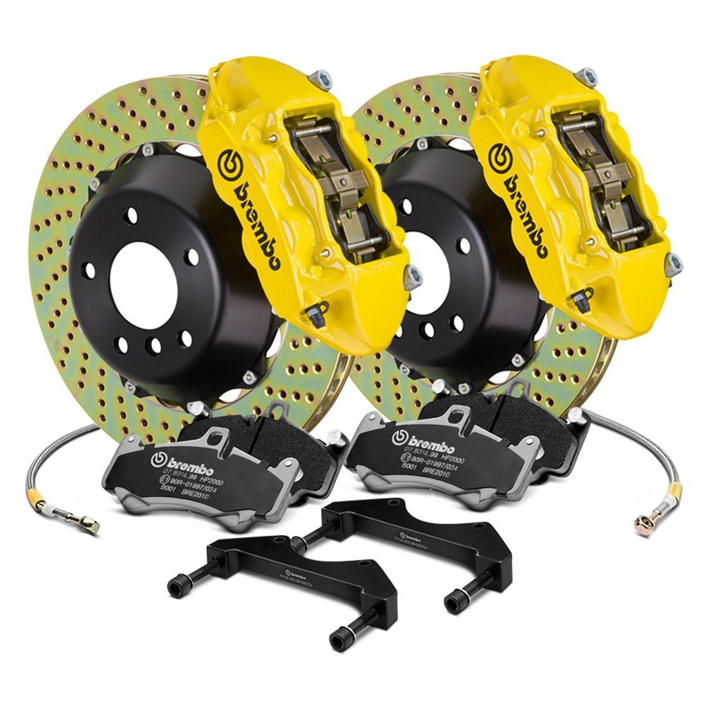 Ford Focus Camper >> Brembo® - Ford Focus ST 2013 GT Series Cross Drilled 2-Piece Rotor Front Big Brake Kit