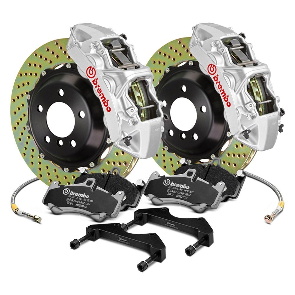 gt series cross drilled front big brake kit