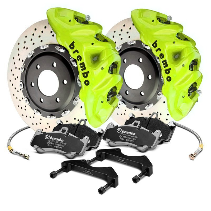 Brembo Brake Kit >> Brembo Gt Series Cross Drilled 2 Piece Rotor Big Brake Kit