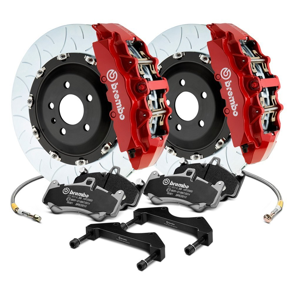 Brembo Brake Kit >> Brembo Gt Series Curved Vane Type Iii 2 Piece Rotor Big Brake Kit