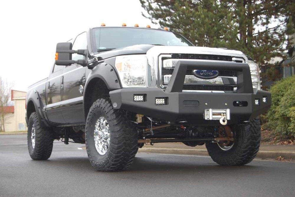 bumper buckstop front ford f250 f350 f550 boss f450 superduty tow winch guard hooks width hd grille ready 2006 bumpers