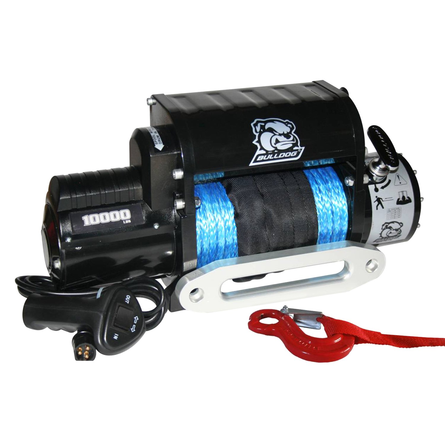 Bulldog Winch® 10017 - 10000 lb Standard Series Integrated Electric Winch  with 100' Synthetic Rope