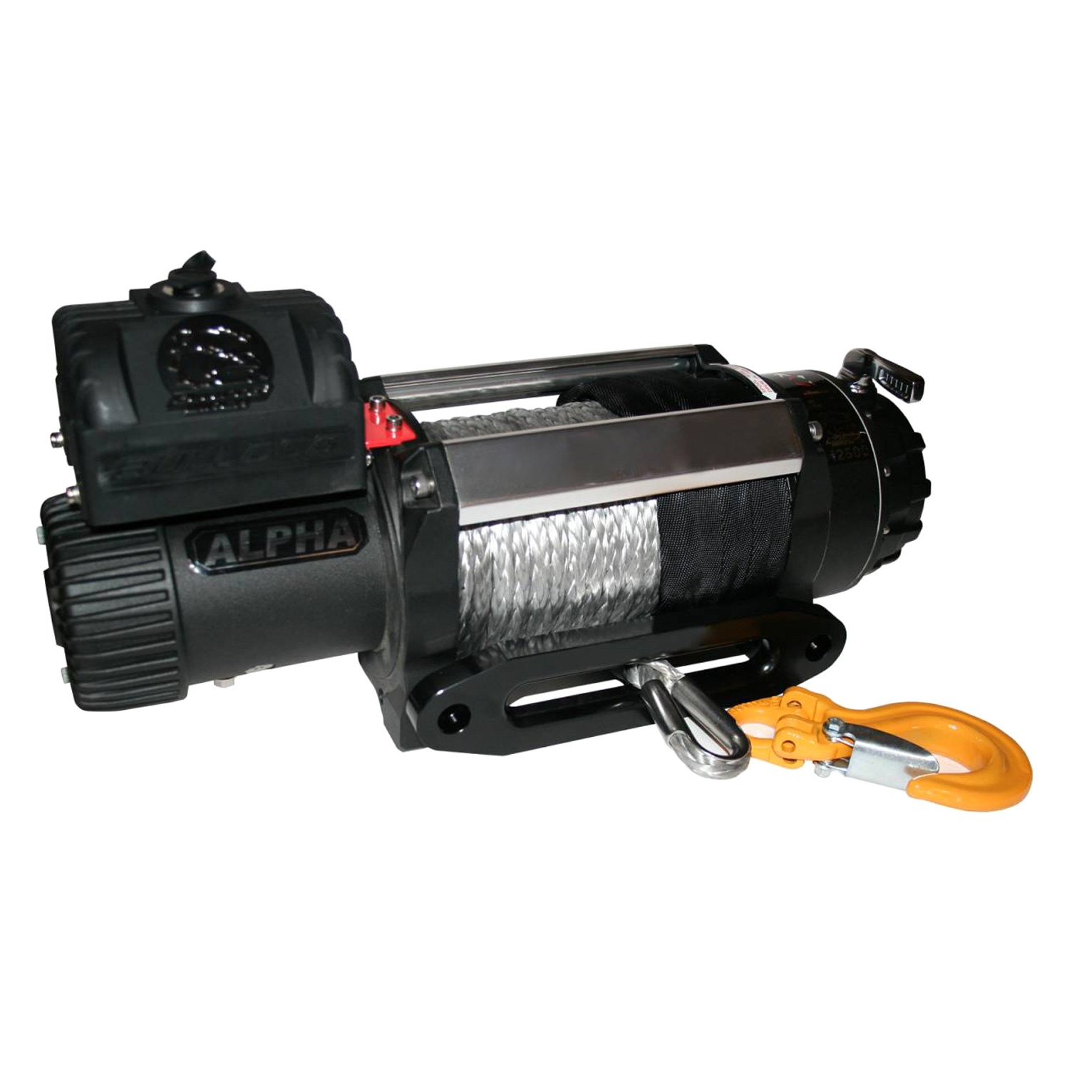 Bulldog Winch® 10028 - 12500 lb Alpha Series Electric Winch with 100'  Synthetic Rope