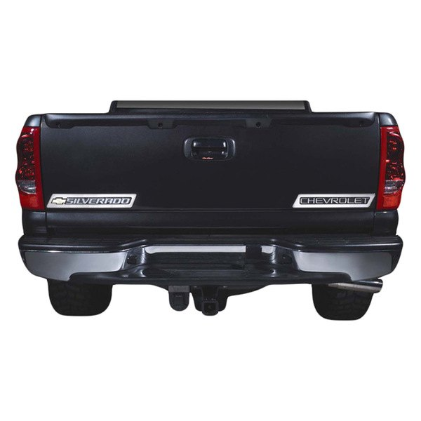 Bully st t stainless steel tailgate emblem trim