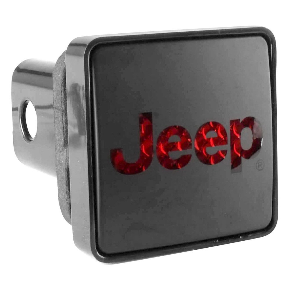 Bully black square hitch cover with jeep logo