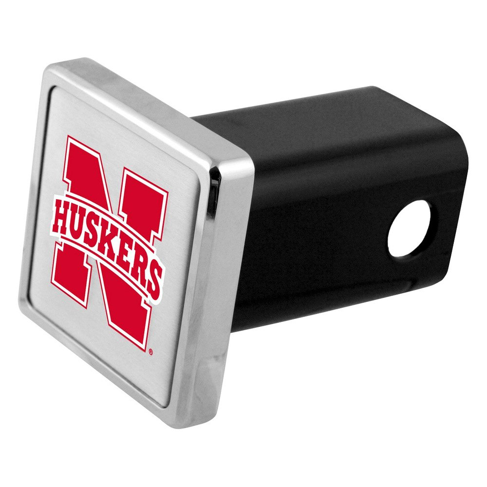 receiversbully hitch cover with alabama nebraska college logo for 2