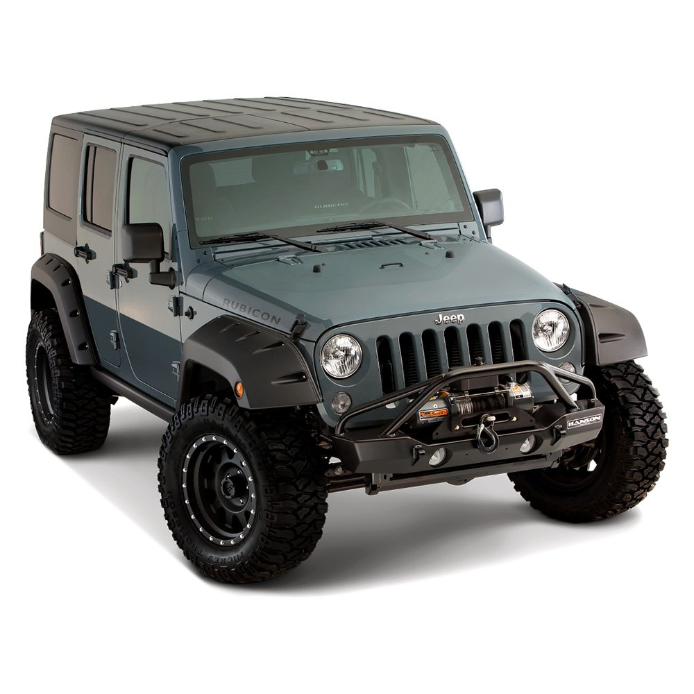 bushwacker jeep wrangler 2007 2016 pocket style fender flares. Cars Review. Best American Auto & Cars Review