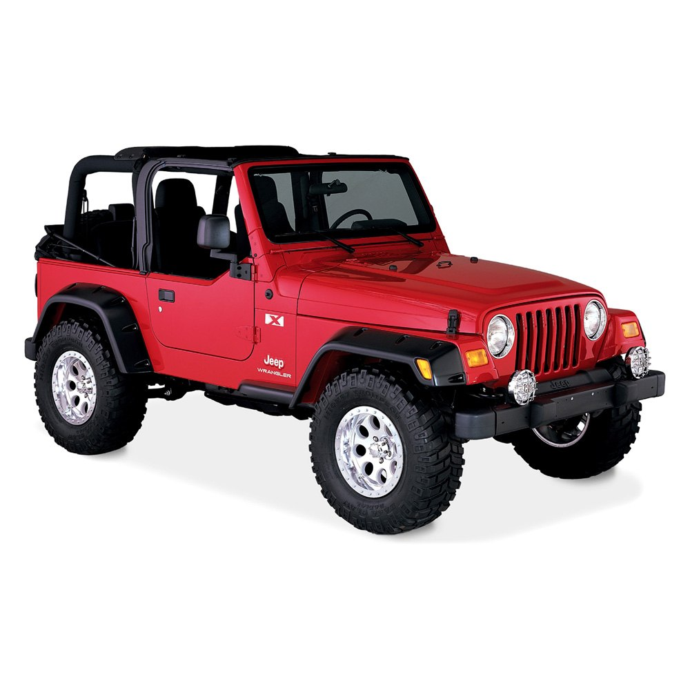 bushwacker jeep wrangler 2001 pocket style fender flares. Cars Review. Best American Auto & Cars Review