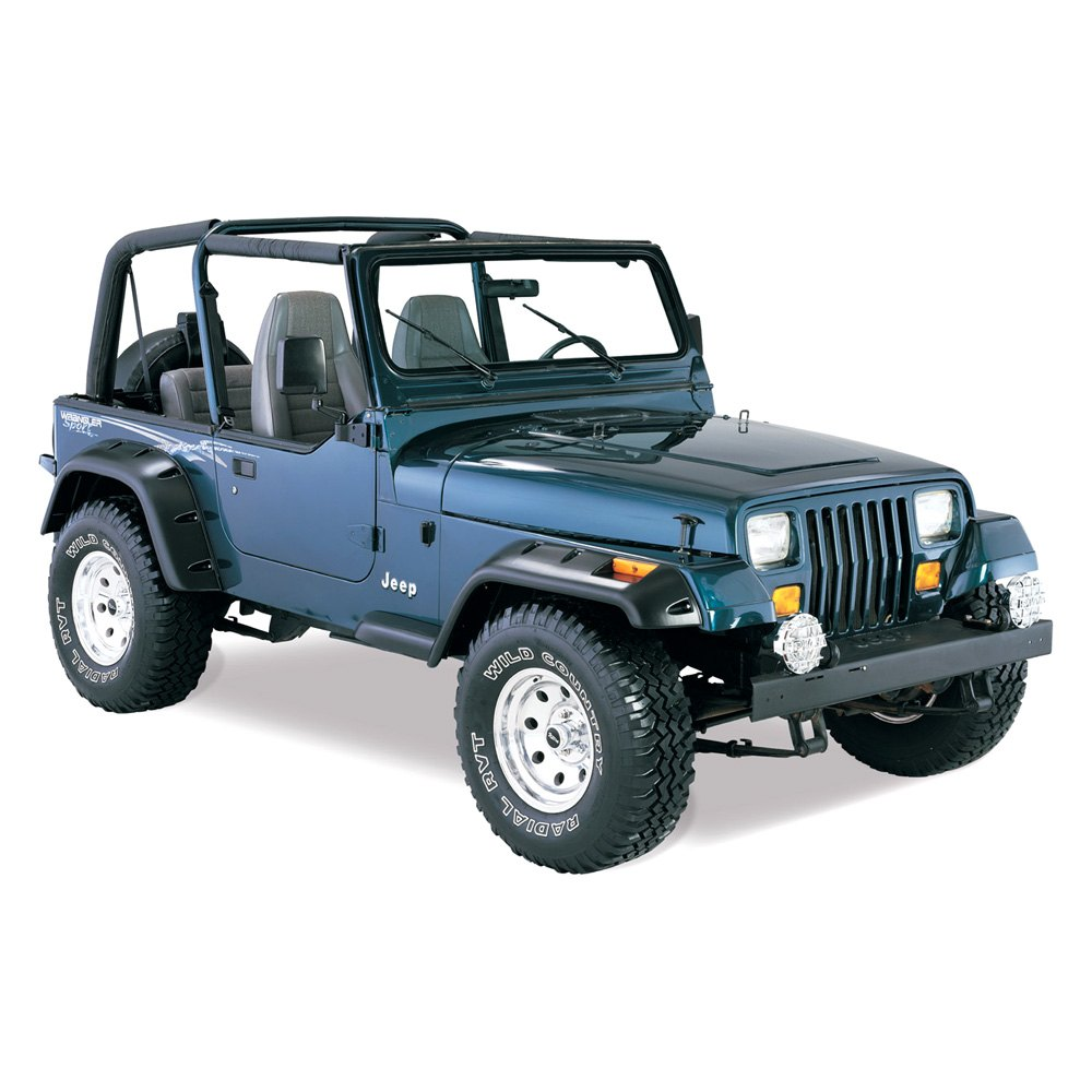 bushwacker jeep wrangler 1990 cut out fender flares. Cars Review. Best American Auto & Cars Review