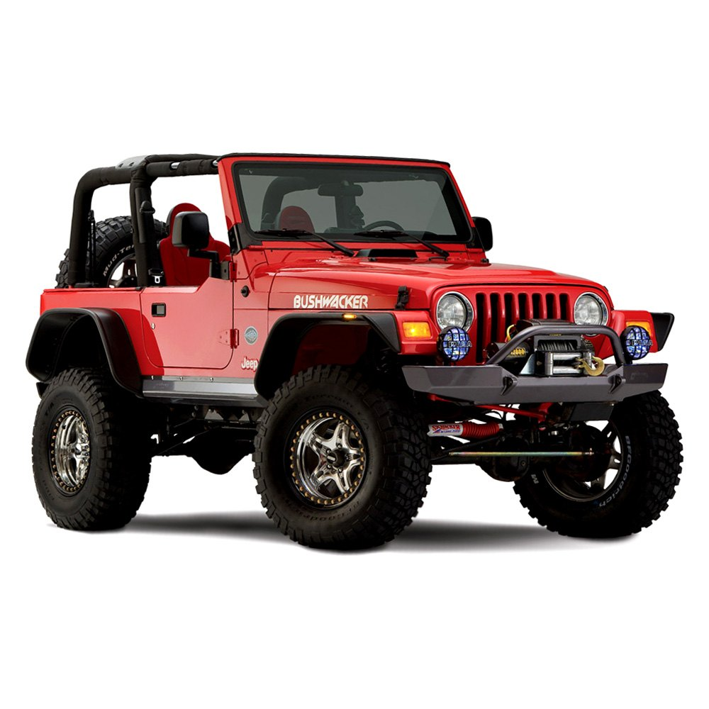 bushwacker jeep wrangler 1997 2003 flat style fender flares. Cars Review. Best American Auto & Cars Review