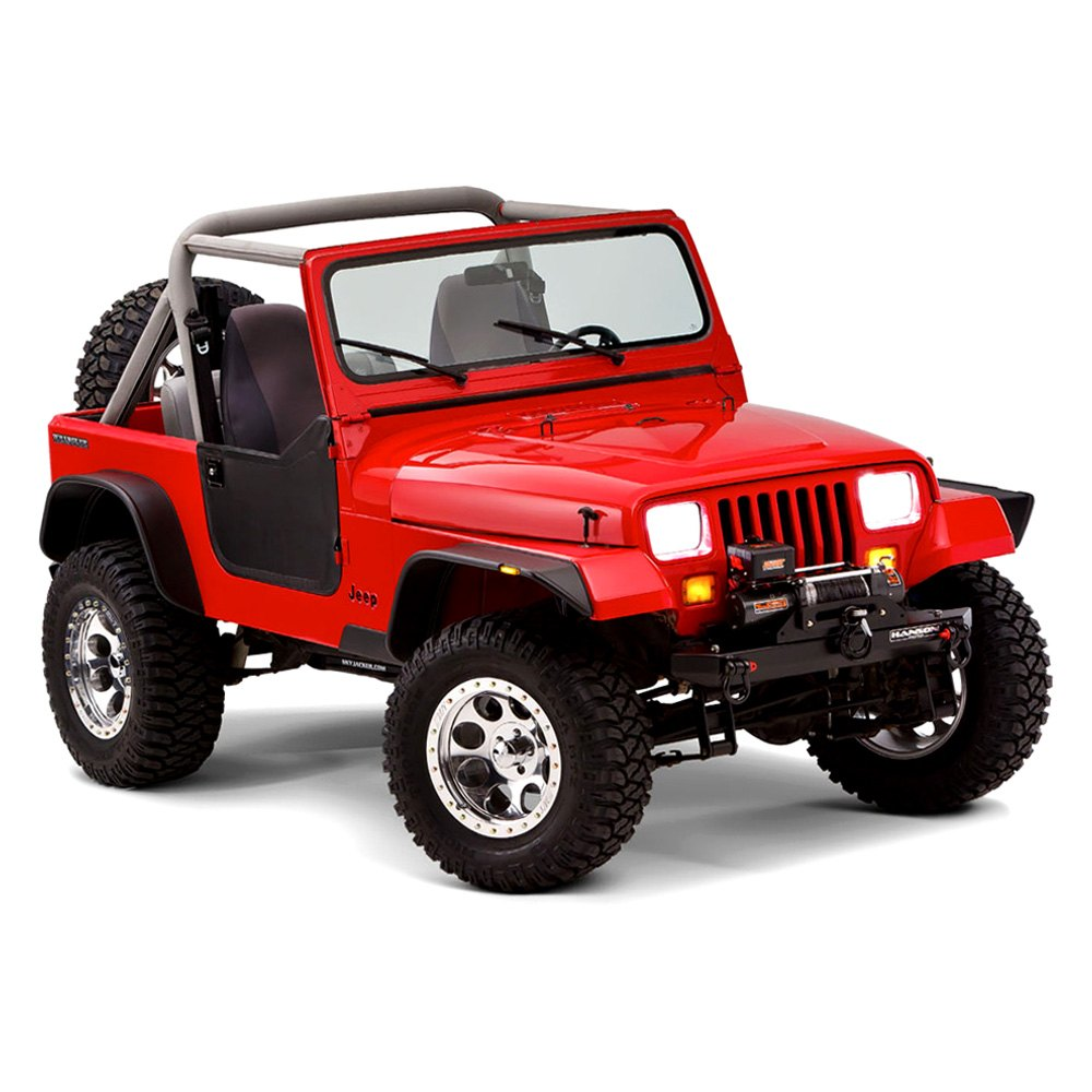 bushwacker jeep wrangler 1990 flat style fender flares. Cars Review. Best American Auto & Cars Review