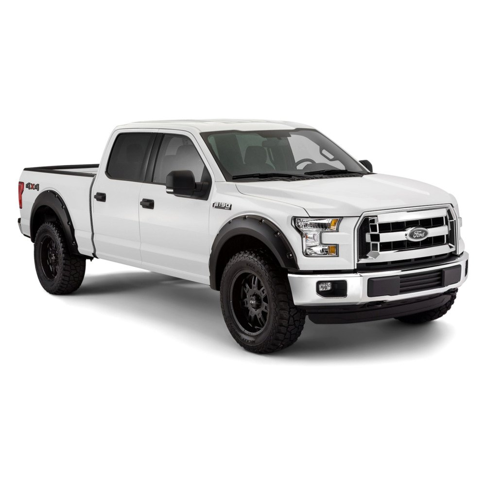 bushwacker ford f 150 2015 2016 pocket style fender flares. Black Bedroom Furniture Sets. Home Design Ideas