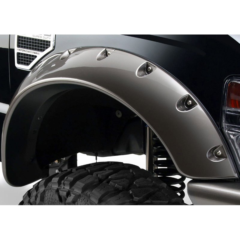 Bushwacker Ford F 250 Super Duty 2008 Cut Out Matte Black Fender Flares