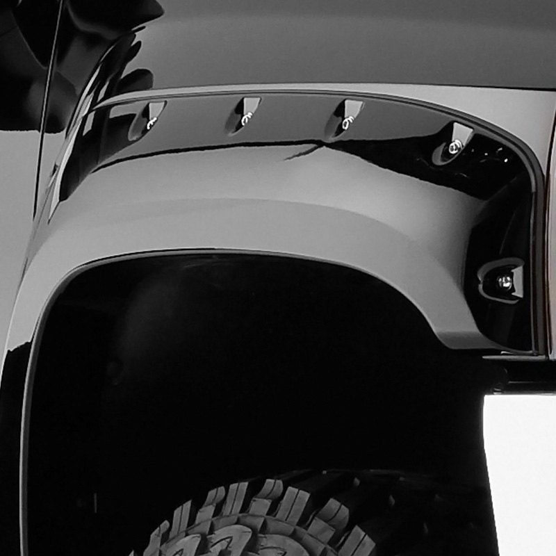 Black Fender Trim For Trucks : Bushwacker pocket style™ matte black front and