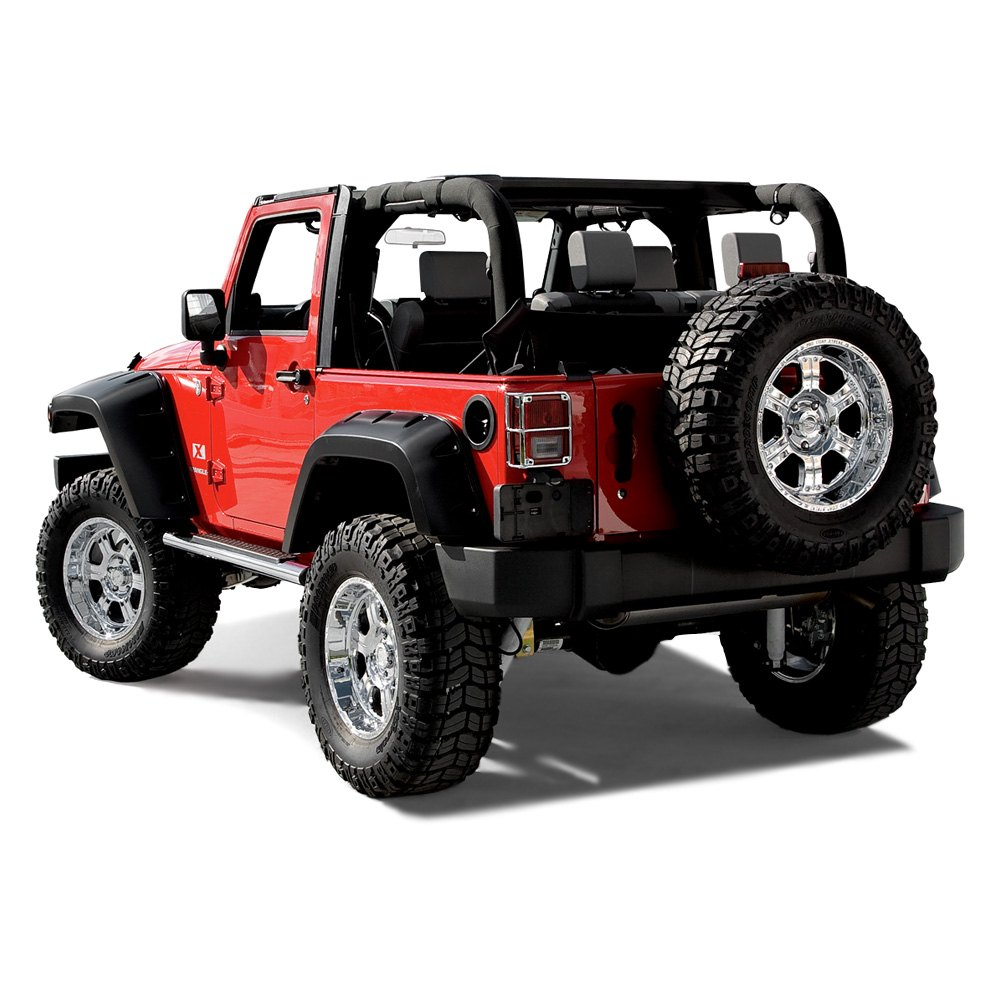 bushwacker® 10046-02 - max coverage pocket style™ rear fender flares