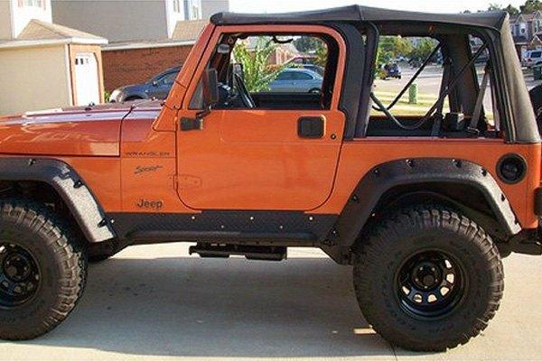 Jeep Tj Fender Flares >> Bushwacker Pocket Style Matte Black Fender Flares